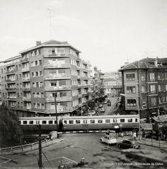 Barreras del ferrocarril de la antigua estación de Las Arenas, 1973 (ref. 03398)