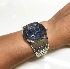 Audemars Piguet Royal Oak Dual Time Blue Dial