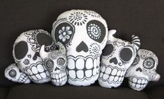 Day of the Dead Pillows by Mi Vida Creations