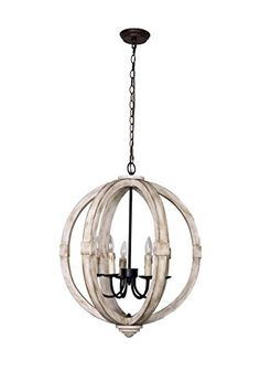 Bourges Chandelier Wooden Pendant Ceiling Light S. Foyer Chandelier, Wooden Chandelier, Vintage Chandelier, Industrial Lighting, Chandelier Lighting, Kitchen Pendants, Wood And Metal, Light Up, Ceiling Lights