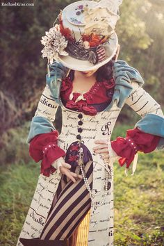 The Mad Hatter by Rachael Kras, Costumer Mad Hatter Outfit, Diy Mad Hatter Hat, Mad Hatter Cosplay, Mad Hatter Costumes, Mad Hatter Tea, Mad Hatter Girl, Mad Hatter Wedding, Mad Hatters, Steampunk Circus