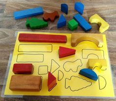 Could use this as a way of refocusing a child...get the child to hunt around the nursery to find items that fit their board (rather than providing all the pieces for them to just put in place)