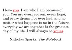 I blame nicholas sparks for having expectations like this of boys