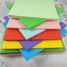 100Pc Origami Square Paper Double Sided Coloured Craft DIY Colorful Scrapbooking |Origami Handmade Paper