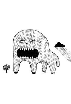 Sleepy Monsta – NaNé Art & Prints
