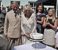 The Duchess of Cornwall is presented with a birthday cake