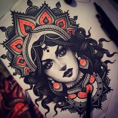 Tattoo Designs That Will Make You Want to Put Them All Over You - Beste Tattoo Ideen Mandala Tattoo Design, Horse Tattoo Design, Skull Tattoo Design, Tribal Tattoo Designs, Bild Tattoos, Body Art Tattoos, New Tattoos, Sleeve Tattoos, Cool Tattoos
