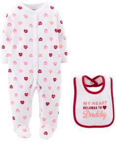 Amazon.com: Carters Baby Girls' Sleep N Play with Bib: Clothing