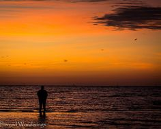 10 on 10 Photography Circle - Easter - Sunrise - Husband in silhouette - Gulfport, Mississippi - http://www.piercedwonderings.com