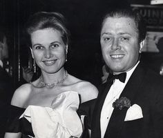 Richard Attenborough and wife Sheila Sim, whom he married in 1945, pictured in 1957 at the Judy Garland show in London