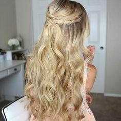 Half Up Dutch Braids (video) by @missysueblog - great work! Quick, easy, very pretty. You must try this hairstyle! #braidideas #braid #braidhair #braids #dutchbraid #braidhairstyle #hairstyle #hair #hairstylist #hairdo #hairup #halfuphalfdown #twistedhair #hairvideo #hairtutorial #hairinspo