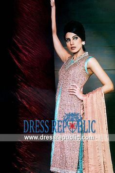 Shell Pink Dawson, Product code: DR3287, by www.dressrepublic.com - Keywords: HSY Party Dresses Collection 2011, HSY Evening Dresses, HSY Shalwar Kameez 2011 Collection