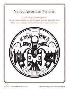Worksheets: Native American Patterns: Hopi