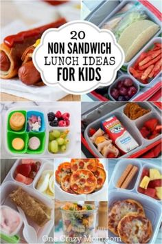 If your kids are tired of sandwiches, check out these Non Sandwich Lunch Ideas. If your kids are tired of sandwiches, check out these Non Sandwich Lunch Ideas. 20 non sandwich lun Non Sandwich Lunches, Lunch Box Recipes, Lunch Snacks, Clean Eating Snacks, School Lunch Recipes, Dinner Recipes, Kids Lunch For School, Healthy Lunches For Kids, Healthy School Lunches