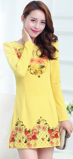 Mini Long Sleeved Printed Dress YRB0320 £15.80