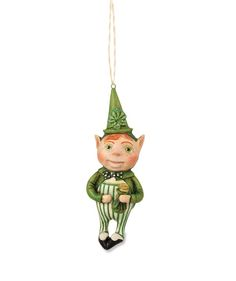 Lucky Leprechaun Ornament | Debra Schoch St. Patrick's Day