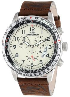 Timex Mens Expedition Military Chronograph Cream INDIGLO Dial Brown Leather Watch T49893 Timex http://www.amazon.com/dp/B0085RXD0E/ref=cm_sw_r_pi_dp_ElAQub1964QGM