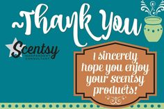 Scentsy 2016 thank you