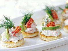 Toast Skagen - with shrimps and boiled eggs, mixed with mayonnaise I Love Food, Good Food, Yummy Food, Tapas, Appetizer Recipes, Snack Recipes, Cheese Recipes, Scandinavian Food, Swedish Recipes