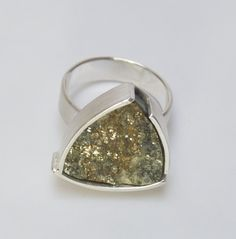 handcarved Stone from tyrol, silverring Druzy Ring, Hand Carved, Gold, Stone, Rings, Jewelry, Gemstones, Handmade Jewelry, Objects