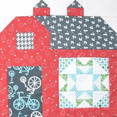 """Bee In My Bonnet: The Quilty Barn Along - Barn 8 and """"The Water Turn"""" Block Tutorial!..."""