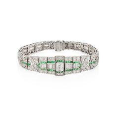 Diamond Art Deco Bracelet available at Windsor Jewelers, Inc. in New York City