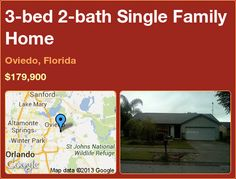 3-bed 2-bath Single Family Home in Oviedo, Florida ►$179,900 #PropertyForSale #RealEstate #Florida http://florida-magic.com/properties/9089-single-family-home-for-sale-in-oviedo-florida-with-3-bedroom-2-bathroom