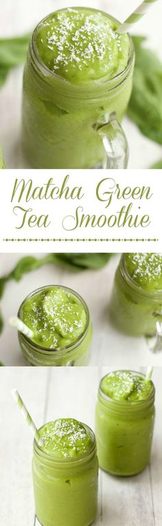 If you are interested in the health benefits of matcha tea, but don't enjoy hot drinks, why not make a smoothie? Here are 4 matcha green tea smoothies to try. Smoothies Vegan, Matcha Green Tea Smoothie, Tea Smoothies, Avocado Smoothie, Juice Smoothie, Smoothie Drinks, Making Smoothies, Green Tea Recipes, 5 Ingredient Recipes