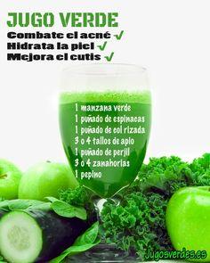 jugo verde acné
