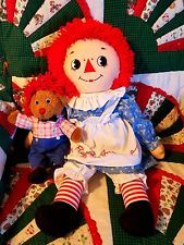 """Raggedy Ann 27"""" with her Special Friend Teddy 10""""in"""