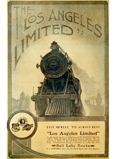 Union Pacific Los Angeles Locomotive Poster by Vintagemasters