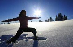 yoga + snow.