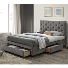 Limelight Monet Grey Velvet 3 Drawer Storage Bed - available to buy online or at Choice Furniture Superstore UK on stockist sale price. Get volume - discount with fast and Free Delivery. 3 Drawer Storage, Bed Storage, Bedroom Storage, Linen Storage, King Size Storage Bed, Bed Frame With Storage, Upholstered Bed Frame, Upholstered Ottoman, Grey Bed Frame