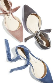 Velvet two piece flat with knotted tie detail | Sole Society Teena