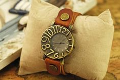 Watch.Women wrist watch. Leather watch. Vintage style by ugnsaeo, $9.99