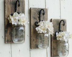 New....Rustic Wood Shelf...Farmhouse Wall by cottagehomedecor                                                                                                                                                                                 More