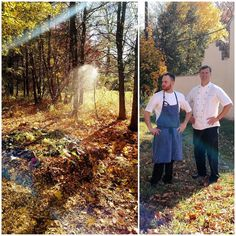 Our chefs out back preparing the compost for next spring at the #rylandinn!    #landmarkhospitality #therylandinn #whitehousestation #hunterdoncounty #compost #farmtotable #composting #cheflife #chef #nature #fall #farm #local #fresh #nj #therylandinnpinterest