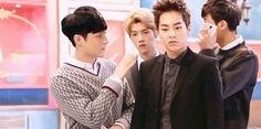 Sorry Yixing, Xiumin just realized that he is stuck with a bunch of idiots kekekeke