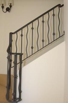 "End of railing.  Add ""bullnose"" step."