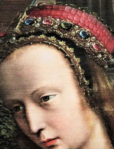 Detail from Portrait of Virgin with Saints and Donor by Gerard David