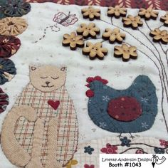 The Cat and the Hen mini quilt by Lynette Anderson Designs