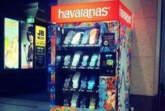 Máquina de vender Havaianas? Confira