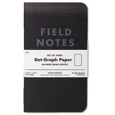 Field Notes Dot Graph Notebook - Pitch Black (3 Pack) | MR ALLEN Store