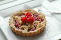 raspberry almond crumb tart - good for you too!