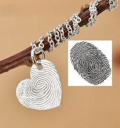 Fingerprint Necklace, Fingerprint Jewelry, Engraved Necklace, Engraved Jewelry, Personalized Necklace, Bridesmaid Gift, Best Friend, Sister by JubileJewel on Etsy