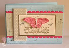 Beautiful card using a wonderful Stampin Up set that raises money for breast cancer research through Aug. 31, 2011