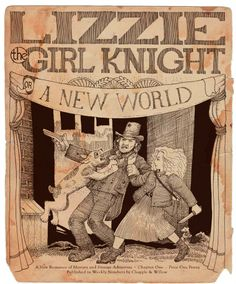 LIZZIE THE GIRL KNIGHT OR, A NEW WORLD by Steve Ahlquist & David Lee Ingersoll - Lizzie Clover is a plucky little match girl in Victorian London swept away on a dragon kite to an grand adventure in a strange new land full of strange creatures and witches. Mysteries and murder abounds. Adventure, Fantasy, Steampunk, Young Adult