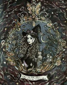 The Wishing Oak by ArtbyLadyViktoria on Etsy Ange Demon, Tarot, Witch Art, Vampire, Witch Aesthetic, Arte Horror, Halloween Art, Book Of Shadows, Dark Art