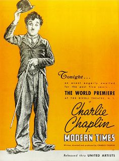 Modern Times starring Charlie Chaplin, 1936. #vintage #1930s #movies