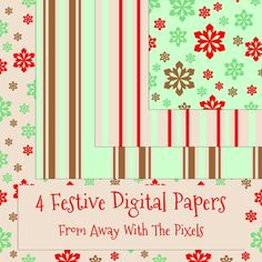 Christmas freies ! Festive Holiday Digital Paper to Download - CUOK